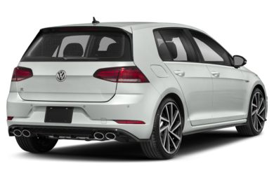 3/4 Rear Glamour  2019 Volkswagen Golf R