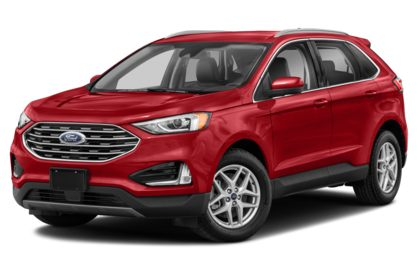 3/4 Front Glamour 2021 Ford Edge
