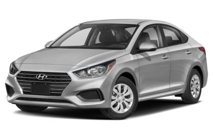 3/4 Front Glamour 2021 Hyundai Accent