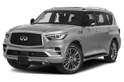 3/4 Front Glamour 2021 INFINITI QX80