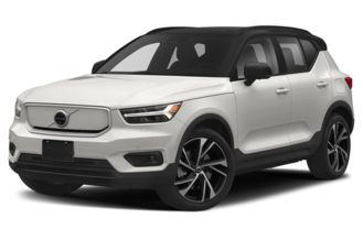 3/4 Front Glamour 2021 Volvo XC40