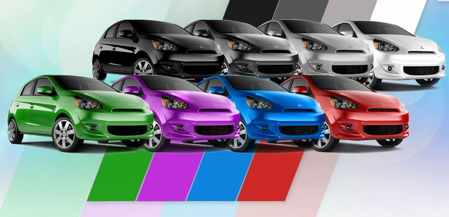 Mitsubishi Mirage Colors
