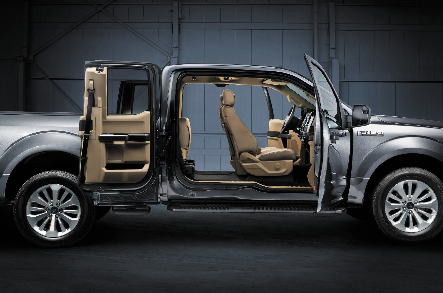 Ford F-150 Interior Side View