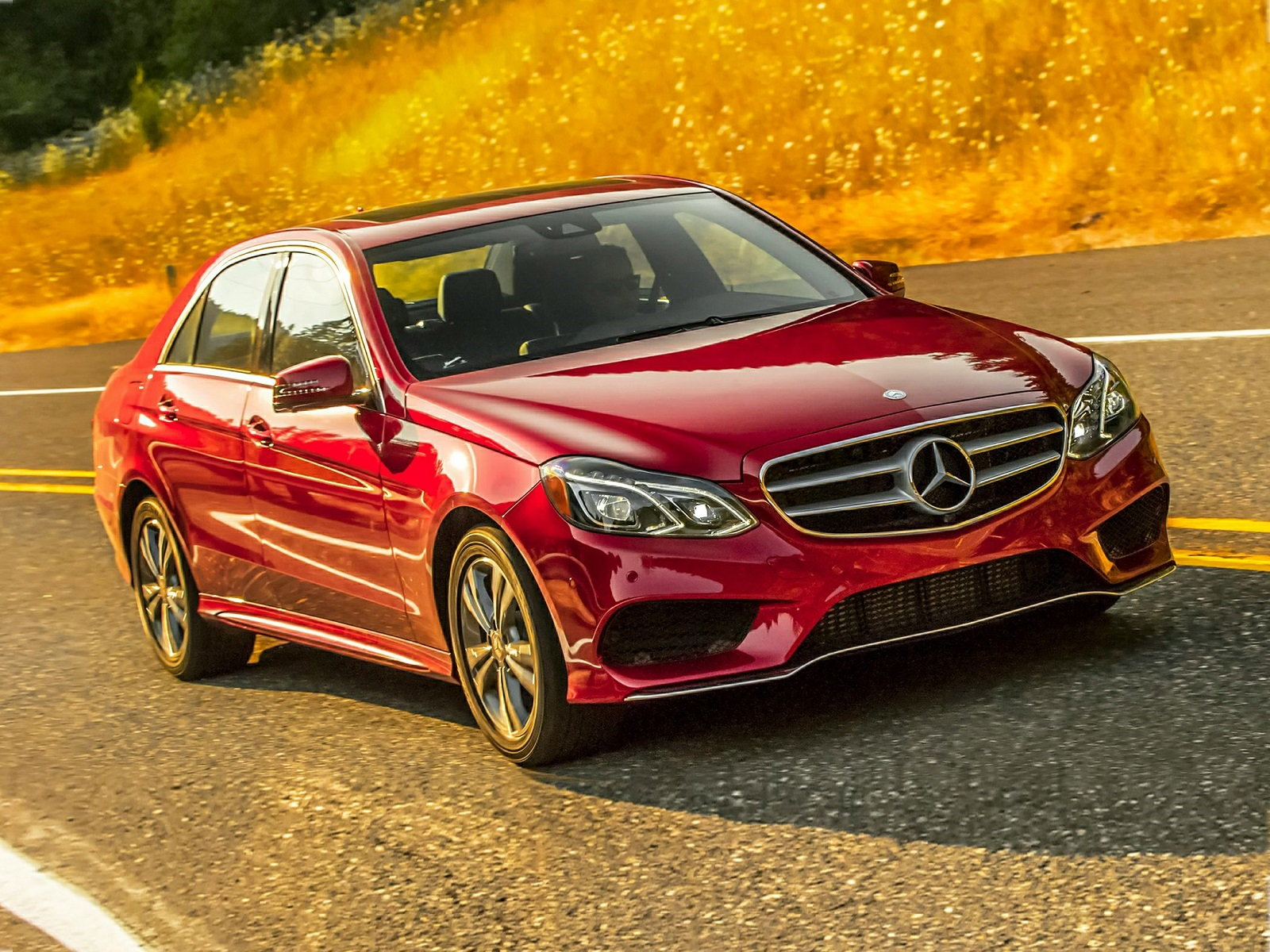 Mercedes-Benz E350 Red