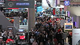 Crowds at the 2016 Detroit Auto Show.