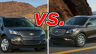 chevrolet traverse vs buick enclave carsdirect. Black Bedroom Furniture Sets. Home Design Ideas
