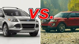 ford escape vs ford explorer carsdirect. Black Bedroom Furniture Sets. Home Design Ideas