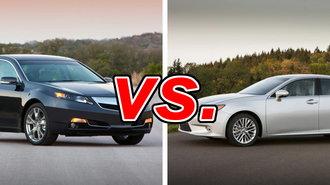 Acura TL vs. Lexus ES 350 - CarsDirect on acura japan, toyota lexus, matte lexus, best looking car lexus, mazda lexus, acura lexus infiniti, acura lfa, acura vs audi,