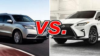 Lexus rx 350 vs acura mdx