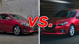 Mazda3 Vs Hyundai Elantra >> Hyundai Elantra Vs Mazda Mazda3 Carsdirect