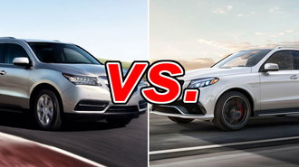 Acura MDX vs. Mercedes-Benz GLE350 - CarsDirect on maserati vs mercedes, land rover vs mercedes, maybach vs mercedes, porsche vs mercedes, cadillac vs mercedes, infiniti vs mercedes, chrysler vs mercedes, hummer vs mercedes, tesla vs mercedes, bmw vs mercedes, bugatti vs mercedes, ford vs mercedes, audi vs mercedes, volkswagen vs mercedes, corvette vs mercedes,