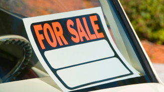 used car for sale sign