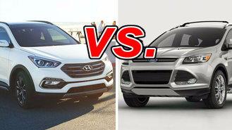 Santa Fe Ford >> Hyundai Santa Fe Sport Vs Ford Escape Carsdirect