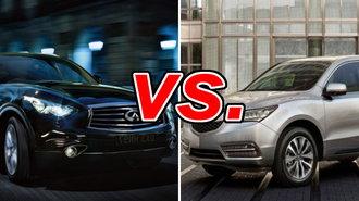 Acura mdx vs infiniti qx70