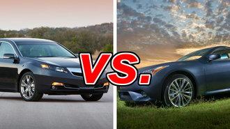 Acura TL vs. Infiniti G37 - CarsDirect on acura rlx, acura vs honda, acura vs volkswagen, acura vs corvette, acura vs bmw,