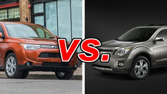mitsubishi outlander vs chevrolet equinox carsdirect. Black Bedroom Furniture Sets. Home Design Ideas