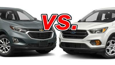Ford Escape Vs Chevy Equinox >> Chevrolet Equinox Vs Ford Escape Carsdirect