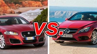 Jaguar XF vs Mercedes-Benz E350 - CarsDirect