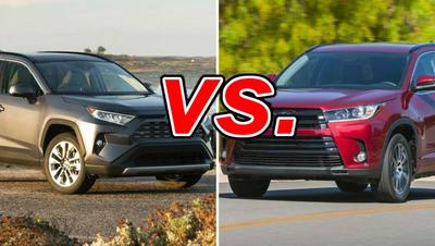 Toyota RAV4 vs  Toyota Highlander - CarsDirect
