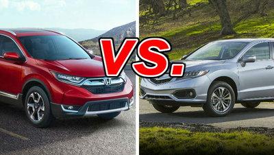 Honda CR-V vs  Acura RDX - CarsDirect