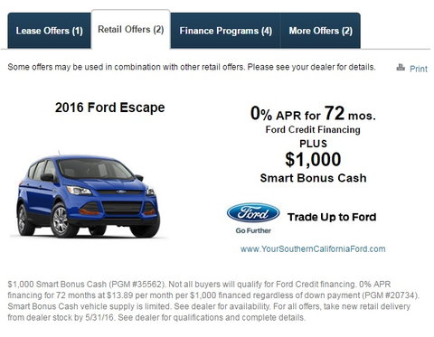 what are ford smart bonus cash incentives? - carsdirect