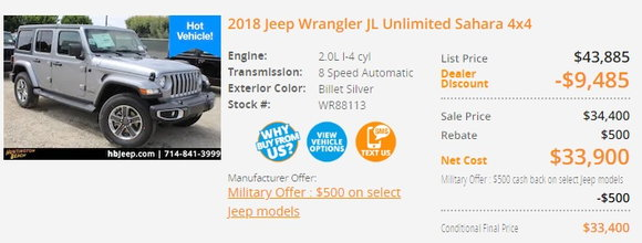 Jeep Is Now Mailing People 1 000 Discounts On Wranglers Carsdirect