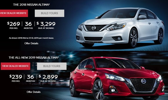 According To Nissan S Leasing Bulletin The 2019 Altima Has An Underlying Residual Value Of 52 Much Higher Than 43 2018 Model
