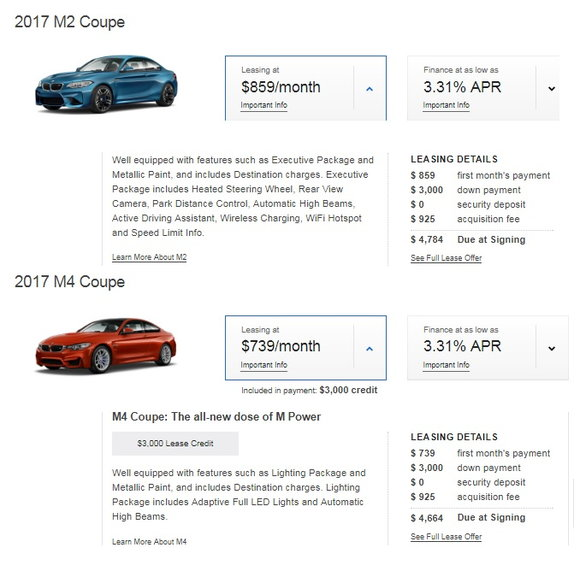 Why The BMW M2 Is A Terrible Car To Lease - CarsDirect