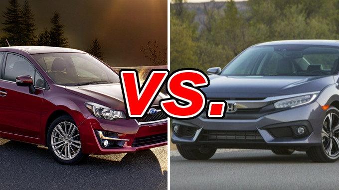 Subaru Impreza Vs Honda Civic Carsdirect