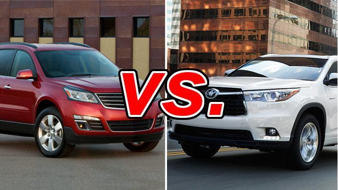 Chevrolet Traverse Vs Toyota Highlander Carsdirect
