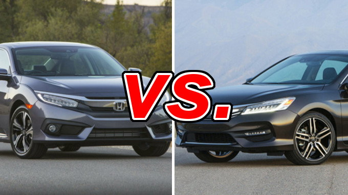 Honda Civic vs Honda Accord  CarsDirect