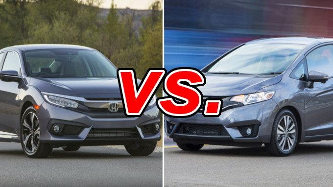 Honda fit vs honda civic