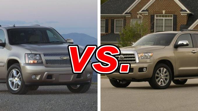 Chevrolet Tahoe vs Toyota Sequoia  CarsDirect