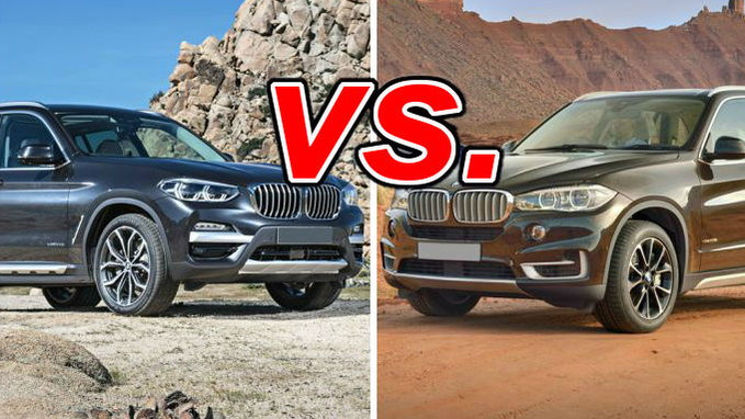 Difference between bmw x3 and x5
