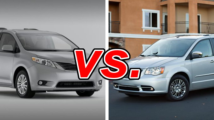 Town And Country Toyota >> Toyota Sienna Vs Chrysler Town Country Carsdirect