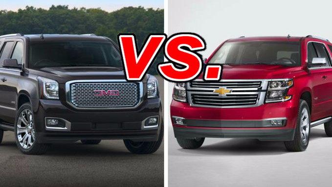 GMC Yukon vs Chevrolet Tahoe  CarsDirect