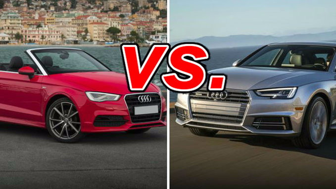 Audi A Vs Audi A CarsDirect - Audi a3 audi a4