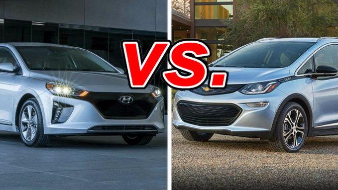 Hyundai Ioniq Electric Vs Chevrolet Bolt Ev Carsdirect