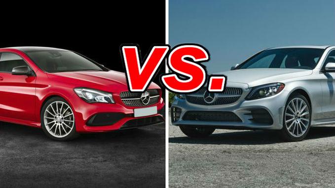 Mercedes-Benz CLA-Class vs  Mercedes-Benz C-Class - CarsDirect