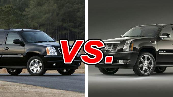 GMC Yukon vs Cadillac Escalade  CarsDirect