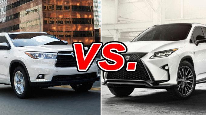 Lexus rx 350 vs highlander