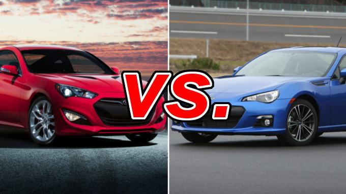 Hyundai Genesis Coupe vs Subaru BRZ  CarsDirect