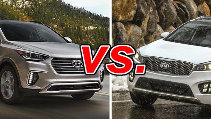 Hyundai Santa Fe vs Kia Sorento  CarsDirect
