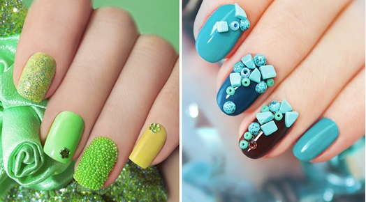 Image of two different kinds of nail embellishments.