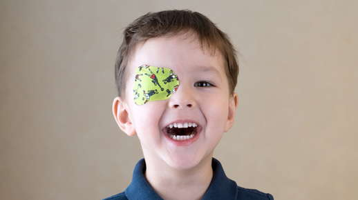 boy with eye patch