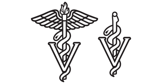 Veterinary medical symbol.