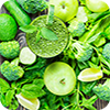 image of green veggies and fruit.