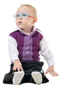 toddler wearing glasses