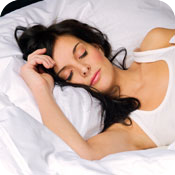 image of woman sleeping.