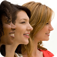 image of three women smiling